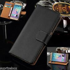 Genuine Real Leather Wallet Card Stand Case Cover for Samsung Galaxy S5
