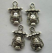 20pcs Tibetan silver lantern charm pendant 17.5x12mm