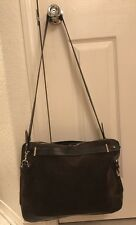 Zara Basic Collection Brown Leather Satchel Messenger Cross Body Bag