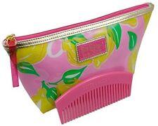 Estee Lauder Lilly Pulitzer Lemon Zest Print Waterproof Cosmetic Bag + Pink Comb