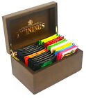 Twinings Luxury Dark wood and Gold 2 Compartment Wooden Tea Chest Box 24 TeaBags
