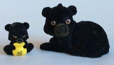 JUNGLE IN MY POCKET – BLACK BEAR FAMILY – 2 x FIGURES – CUTE PLAYSET