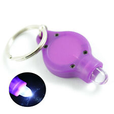 LED Mini Micro Keychain Key Ring Flashlight LED Torch Purple Lamp