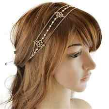 Women Vintage Metal Rhinestone Head Chain Jewelry Headband Head piece Hair Band