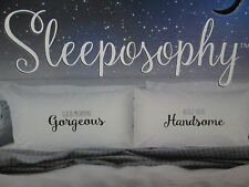 Sleeposophy GORGEOUS HANDSOME Two Coordinating Standard Pillowcases ~ Black NEW