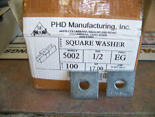 "S-5002-EG PHD (Lot of 25) Square Washer 1/2"" Hole  B202 P1064 AB-241-1/2"""