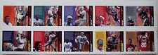 1994 Action Packed Catching Fire JERRY RICE MICHAEL IRVIN SHARPE Uncut Set Sheet