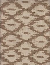 10.625 yds Schumacher Upholstery Fabric Diamond Ikat Brown Cream 62-6 62-10