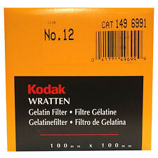 Kodak Wratten Gelatin Filter. 100 x 100 mm. No.12 cat 149 6991