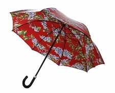 NWT DOLCE & GABBANA Red Multicolor WISTERIA Print Rain Waterproof Umbrella