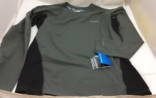 Columbia Omni Heat Mid weight Gray Base Layer Long Sleeve Shirt XL Make Your Own