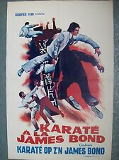 affiche cinéma originale karateka karate à la James Bond vers 1970