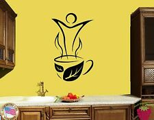 Wall Stickers Vinyl Decal Tea Cups Leafs Coffee Cute Decor For Kitchen (z1751)