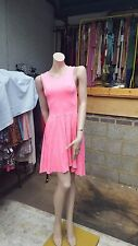 Ladies Lovely Bubble Gum Pink  Dress By Divided H&M  Longer At The Back UK 8