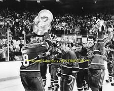 SERGE SAVARD & Montreal CANADIENS Celebrate 1977 STANLEY CUP 11x14 Photo HOF GR8