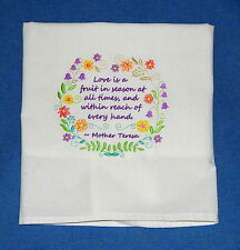 Love Is A Fruit In Season At All Times Embroidered Flour Sack Towel