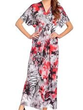ONE WORLD WOMEN'S MULTICOLOR FLORAL EMBELLISHED SHORT SLEEVE MAXI DRESS Sz 2X