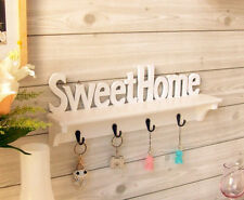 Key Holder Wooden Hanging Wall Decoration For Home Accessories Gift Family Hooks
