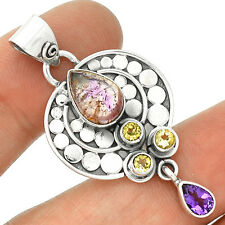 Cacoxenite Super Seven 925 Serling Silver Pendant Jewelry PP2467