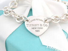 Tiffany & Co Silver Heart Return to Tiffany Bracelet Packaging Included 7.5 Inch