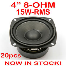 "20x 4"" 15WRMS PA DJ Speaker Subwoofer Woofer Sub Driver 4 Inch 8 Ohms Quality"
