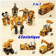 5 In 1 Action Figure Transformers Toys Metal Truck Hercules Combination Robots