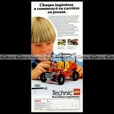 LEGO TECHNIC 'Dune Buggy 8845' (1983) - Pub Publicité Original Advert Ad #C173