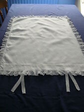 Vintage Linen Lace Edged Pillowcase with Tie Fastening