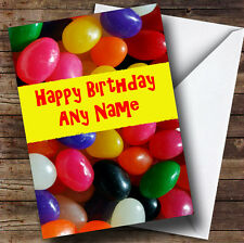 Jellybeans Sweets Personalised Birthday Greetings Card