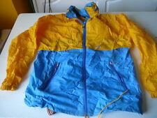 kway k-way veste  vintage bleu et jaune T 5  se met en boule
