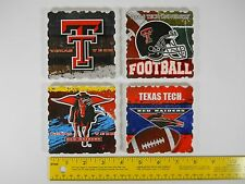 4 Drink Coasters Texas Tech College Football Highland Graphics Absorbent Stone