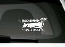 Dachshund On Board, Car Sticker, High Detail, Great Gift For Dog Lover
