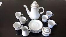 15 Pc Conjunto de Café Vintage Jaeger, Baviera, Alemania Porcelana (PMR) Adorno De Plata