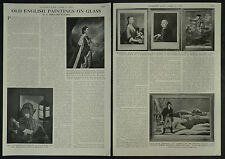 Old English Painting On Glass Mezzotint 1957 2 Page Photo Article