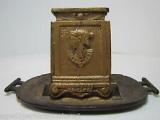 Antique American Fusee Co Erie Pa Advertising Match Book Holder Egyptian Revival