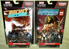 """GAMORA STAR-LORD GROOT ROCKET Marvel Legends 3.75"""" Guardians of the Galaxy"""