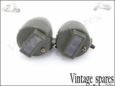 NEW PAIR BLACKOUT CAT EYE MARKER LIGHT WILLYS MB FORD GPW G503 HARLEY