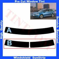 Pre Cut Window Tint Sunstrip for VW Golf VII 5 Doors Estate 2013-... Any Shade