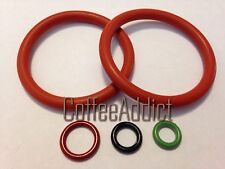 Delonghi Coffee Machine 3 O Ring set for Milk Jug Coupling+2 Diffuser Gaskets
