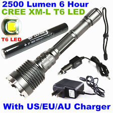 SMALL SUN 2500 Lumen CREE XM-L T6 LED Rechargeable Tactical 18650 Flashlight T68