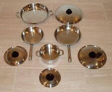 NEOVA 5-PLY STAINLESS STEEL WATERLESS COOKWARE SET BY VITA MIX - 8 PIECES - EUC!