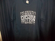 Popcorn Sutton Moonshine Navy 100% Cotton Short Sleeve T-Shirt Tee NWOT Sz Lg