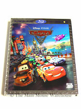 Disney Pixar Sequel Cars 2 Spy Movie 3D Blu-ray DVD Digital Copy Bonus Features