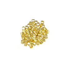 Brass Tube Golden Crimp Beads Jewellery Making 2mm PK50 (L76/2)