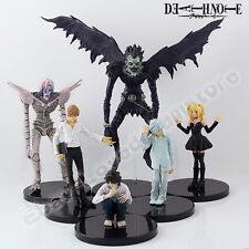 6x Death note L/Ryuk/Rem/Killer/MisaMisa/Nia 6cm-16cm PVC Figure Loose New Set