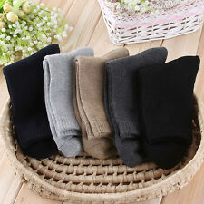 5 Pairs New Mens Thicken Thermal Wool Cashmere Casual Sports Winter Hiking Socks
