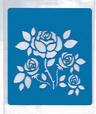 Plastic/pvc/pp / stencil/rose/roses / multi/design/bendy