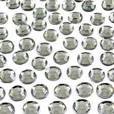 2000 CLEAR CRYSTAL FLAT BACK RHINESTONES DIAMANTE GEMS NAIL ART CRAFTS 3MM