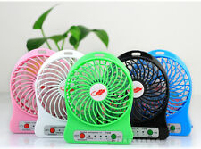 Portable Mini Rechargable Battery Fan Emergency Powerbank USB Port with LED
