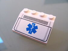 LEGO 3297px24 @@ Slope 33 3 x 4 with EMT Star of Life and Grille Pattern @@ 4857